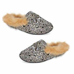 4/$25 INC Faux-Fur Slide Slippers